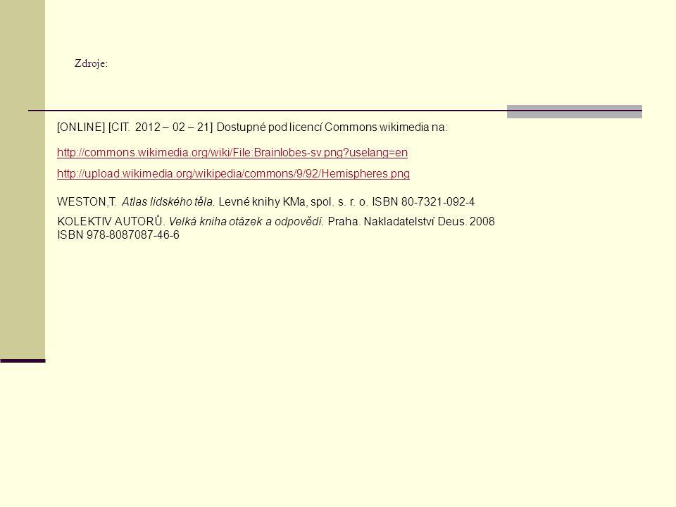Zdroje: [ONLINE] [CIT. 2012 – 02 – 21] Dostupné pod licencí Commons wikimedia na: